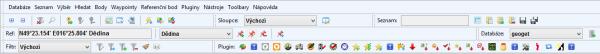 Kompletní zobrazení toolbarů