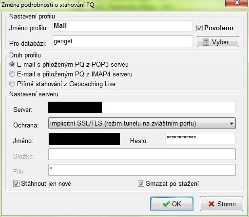 Import PQ - mail