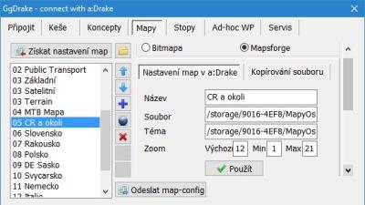 Nastavení vektorových map
