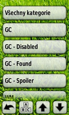 Seznam kategorií