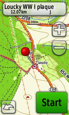 Waymark na mapě