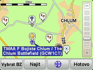 zobrazení mapy