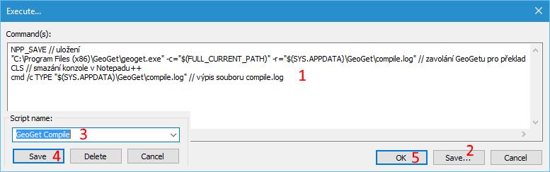 Nastavení skriptu pro kontrolu
